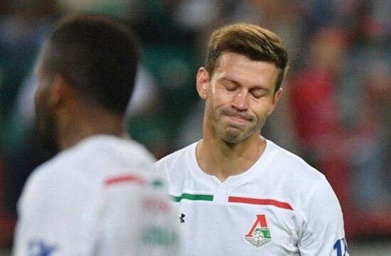 Lokomotiv'in golcüsü Fedor Smolov'dan kötü haber