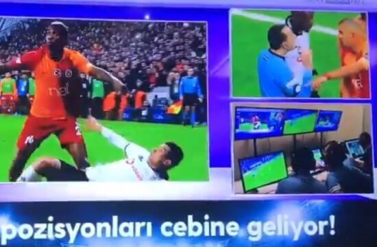 """Cüneyt Çakır önce """"penaltı"""" dedi, sona """"iptal"""" etti!"""