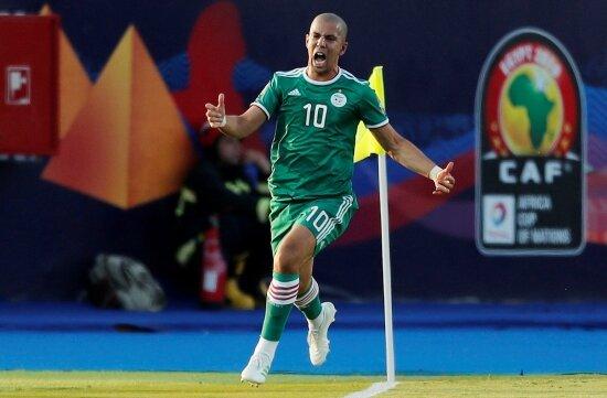 Sofiane Feghouli attı, Cezayir son 4'e kaldı