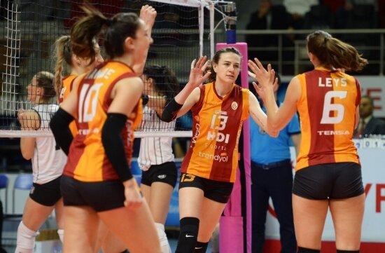 Galatasaray, derbiyi kazanıp yarı finale yükseldi!