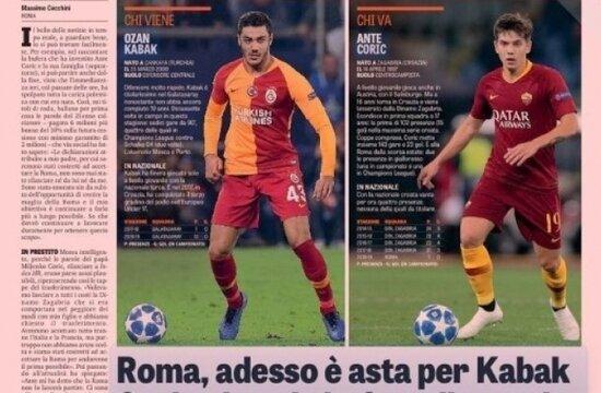 """Ozan Kabak İtalya'da manşet: """"Kim geliyor? Ozan Kabak"""""""