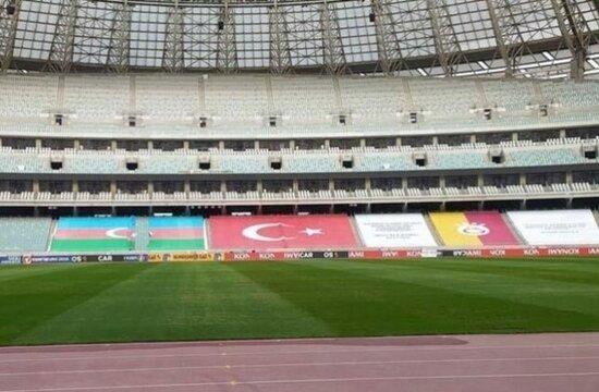 Galatasaray'a Azerbaycan'da büyük sürpriz! İşte o pankart...