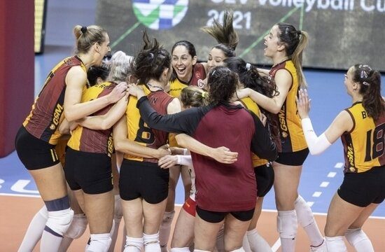 Galatasaray, CEV Cup'ta finale yükseldi!
